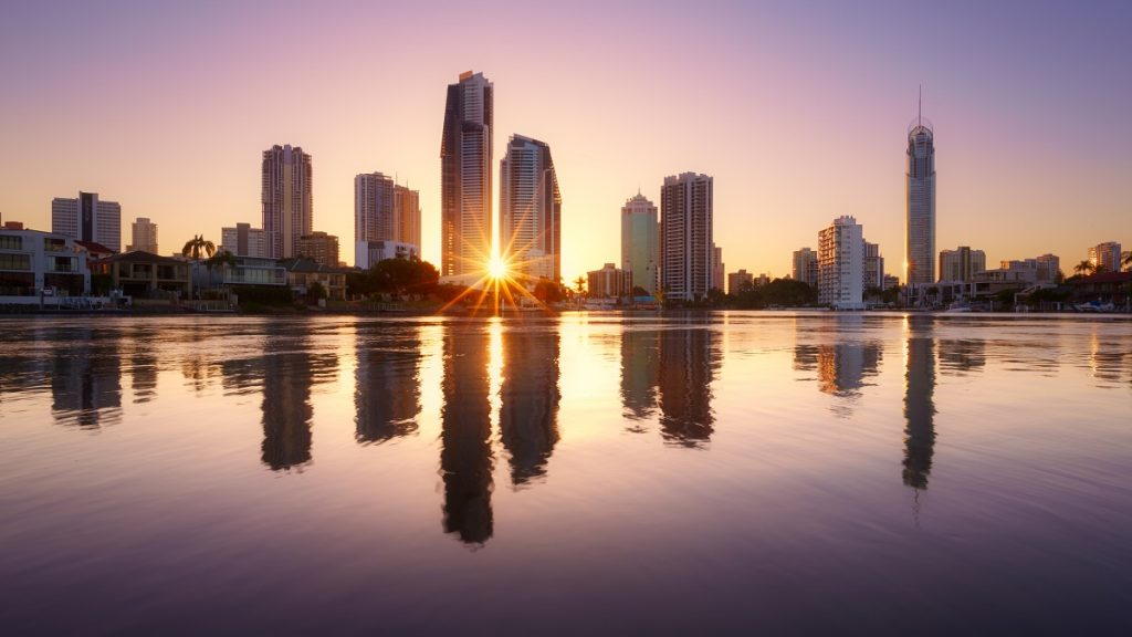 Picture of Brisbane skyline at sunrise